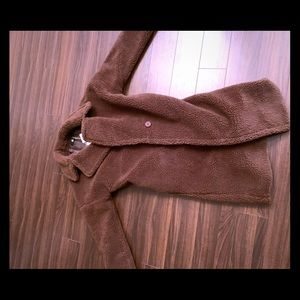 Chocolate colored teddy coat- brand new!
